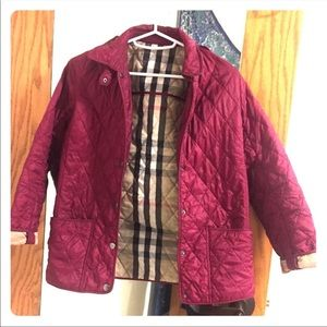Burberry jacket coat pink